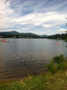 IMLP Swim course on Mirror Lake
