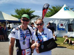 Pete & Steph at the finish