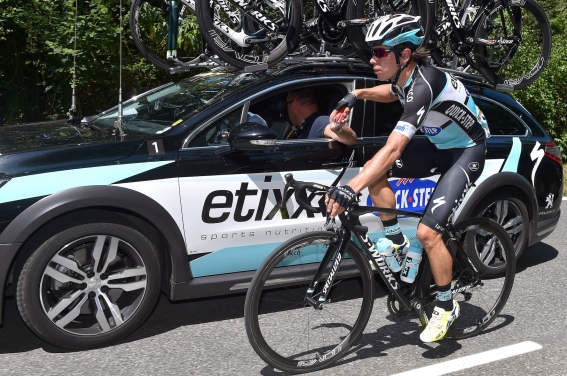 Cycling: 102nd Tour de France / Stage 10 URAN Rigoberto (Col)/ Food Ravitaillement Bevoorrading/ Team Etixx - Quick Step (Bel) Car/ Tarbes - La Pierre-Saint-Martin (167Km)/ Ronde van Frankrijk TDF / Etape Rit / ©Tim De Waele