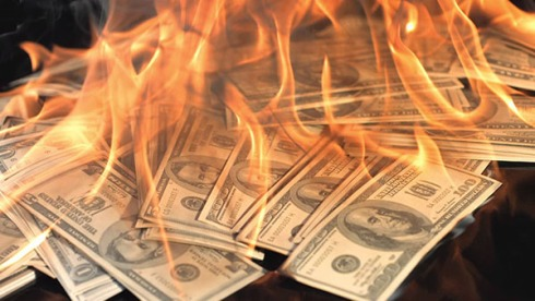 Image result for images of burning money