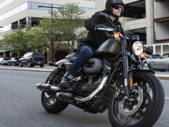 Biking on a Harley